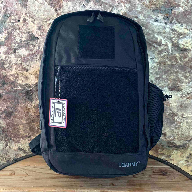 Patch Collector Backpack - Black front view
