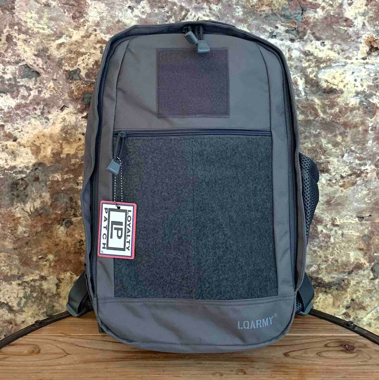 Patch Collector Backpack - Gray front view