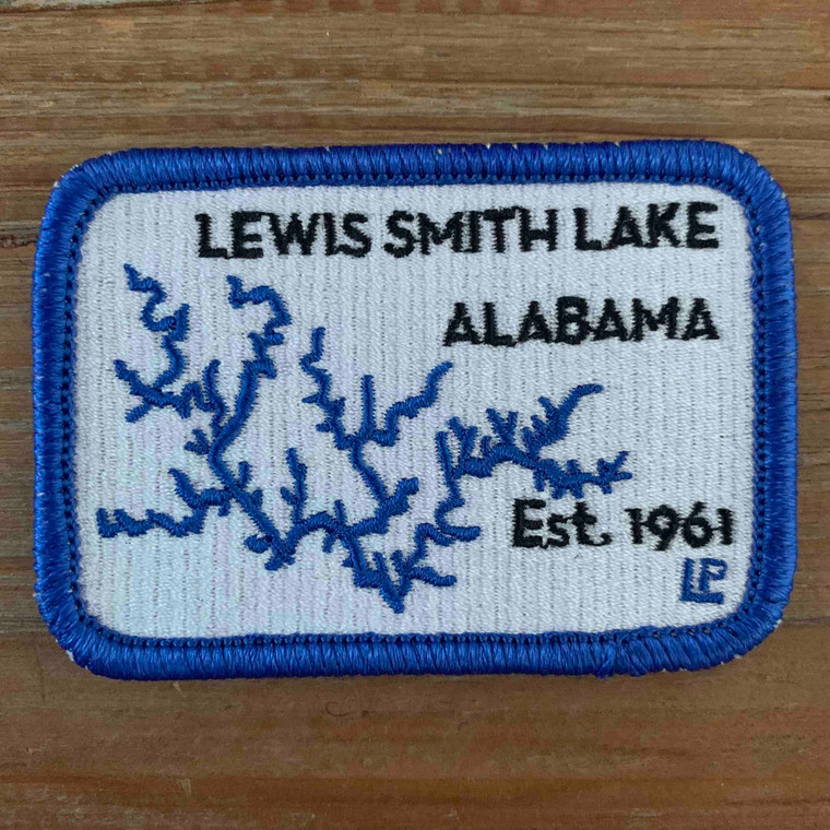 Lewis Smith Lake Map 2x3 Loyalty Patch