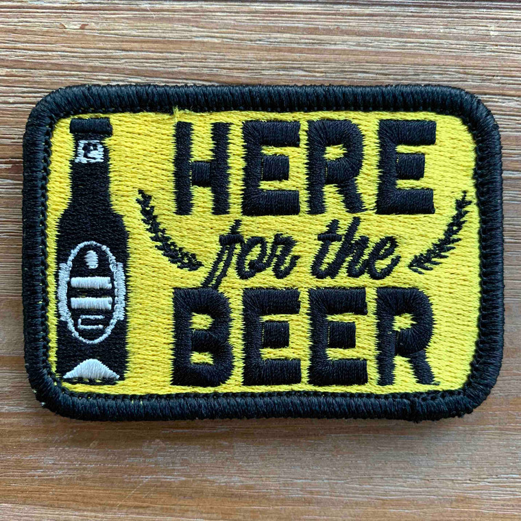 Here for the Beer 2x3 Loyalty Patch