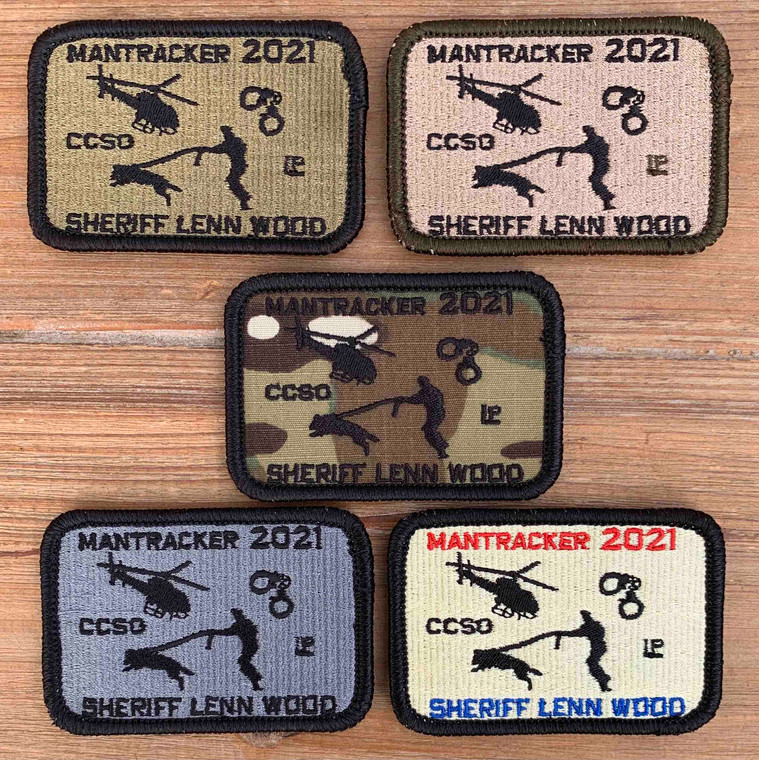 2x3 Mantracker Event Patch 2021 - Five colors available