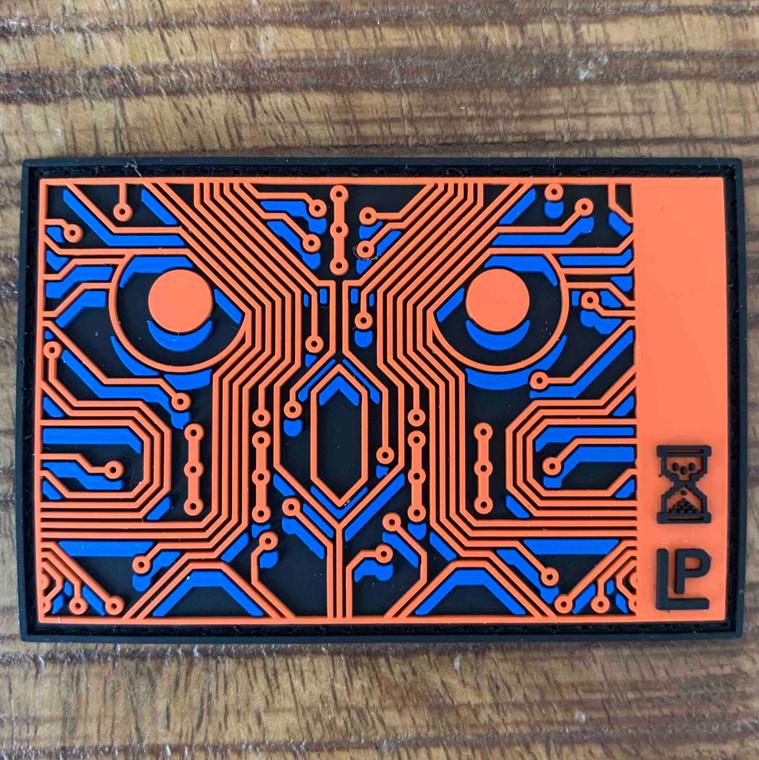 Cyber Owl by Matthew E. Phelan 2x3 PVC Loyalty Patch