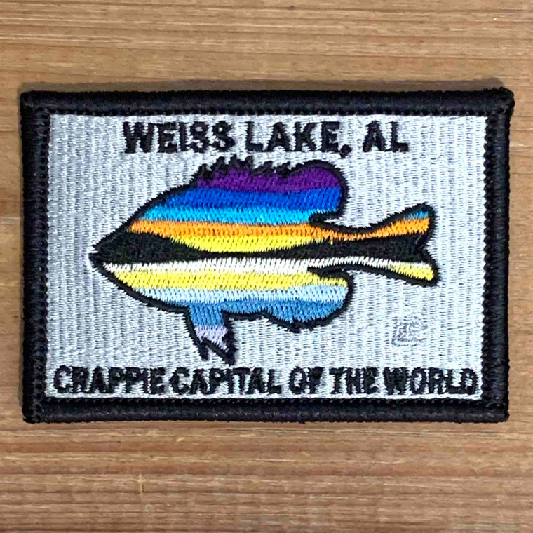 2x3 Weiss Lake Crappie Capital of the World Loyalty Patch