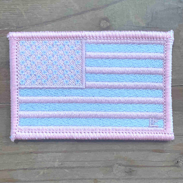 US Flag - Pink and White 2x3 Loyalty Patch