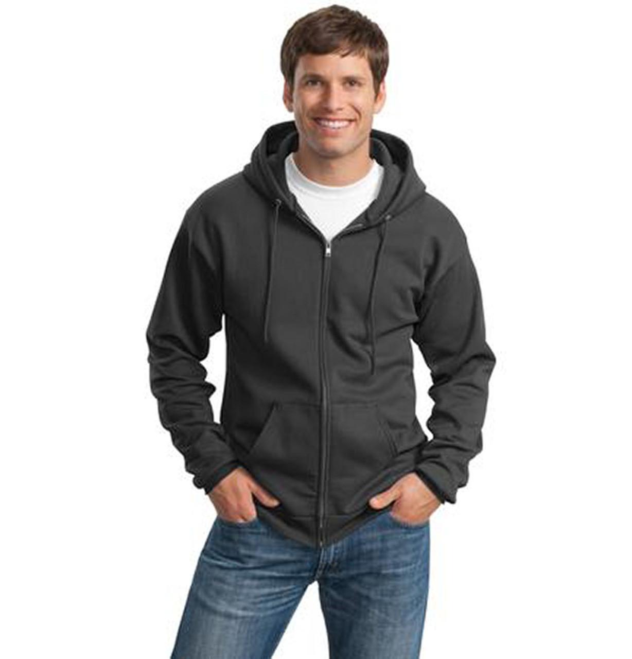 Maroon Port /& Company Classic Pullover Hooded Sweatshirt-S