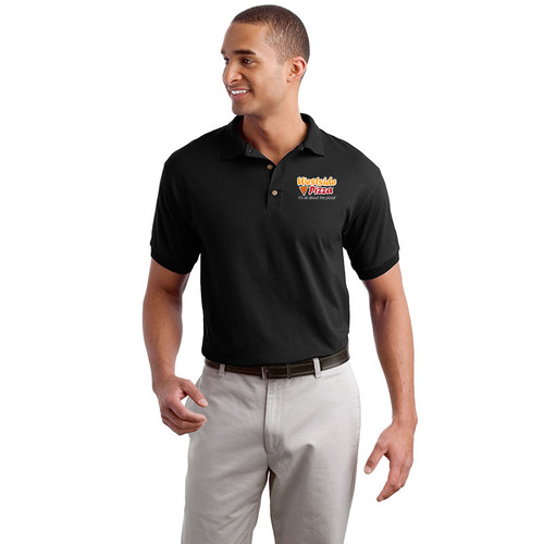 Westside Pizza Cotton Polo with Embroidered Front