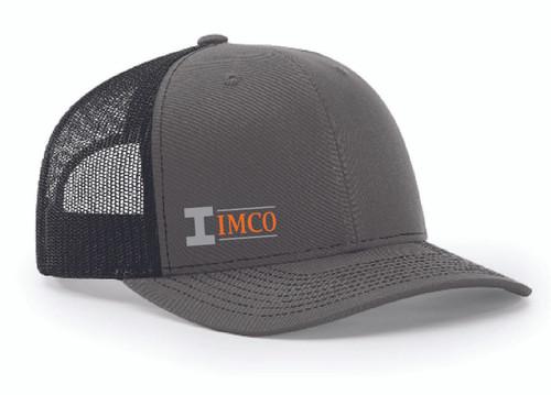 IMCO Trucker Hat in Charcoal/Black