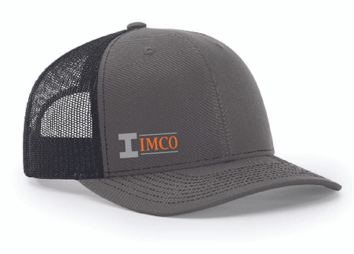IMCO Trucker Hat in Charcoal/Black