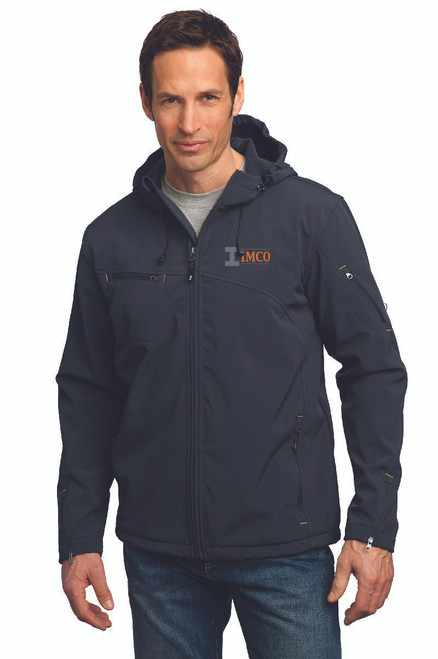 IMCO Men's Textured Hooded Soft Shell Jacket