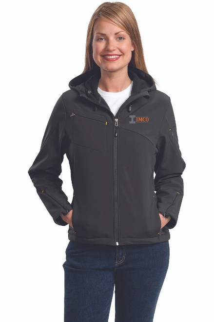 IMCO Ladies Textured Hooded Soft Shell Jacket