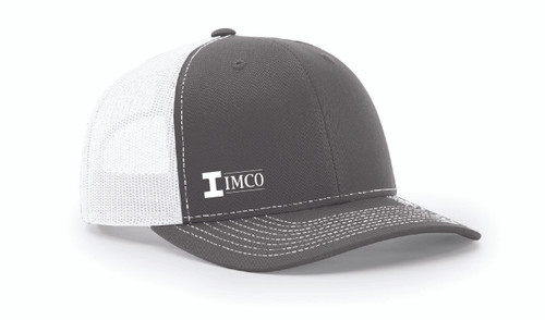 IMCO Trucker Hat in Charcoal/White