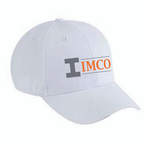 IMCO Cotton Twill Low Profile Cap - White