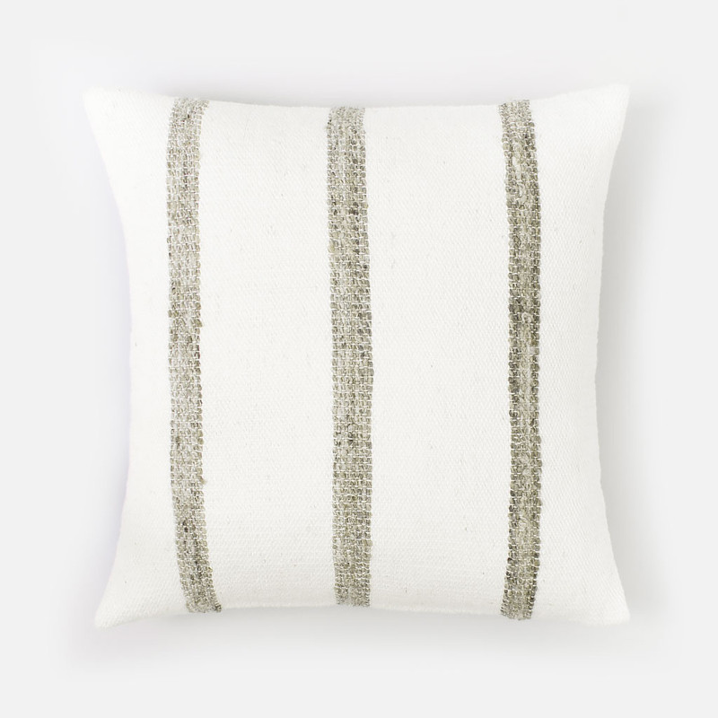 Ardo Thick Striped Wool Pillow