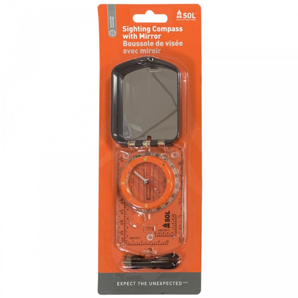 SOL Sighting Compass with Mirror