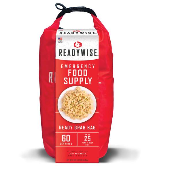 ReadyWise 7 Day Emerg Dry Bag 60 Serve Bkfst w Entree GrabGo