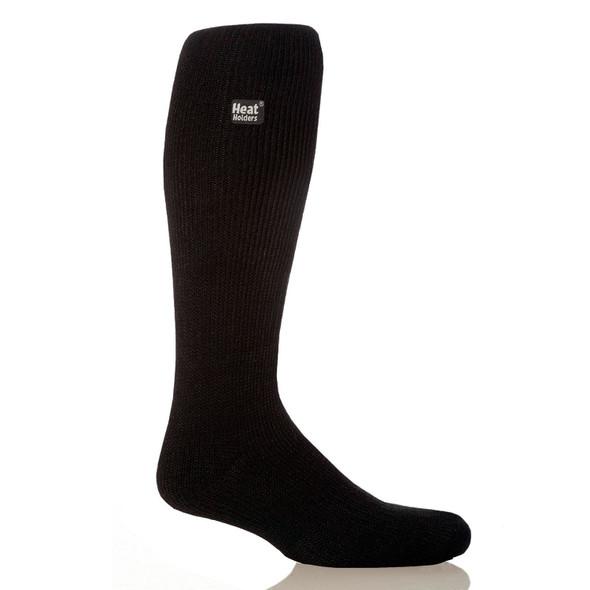 Grabber Heat Holders Mens Long Socks-Black