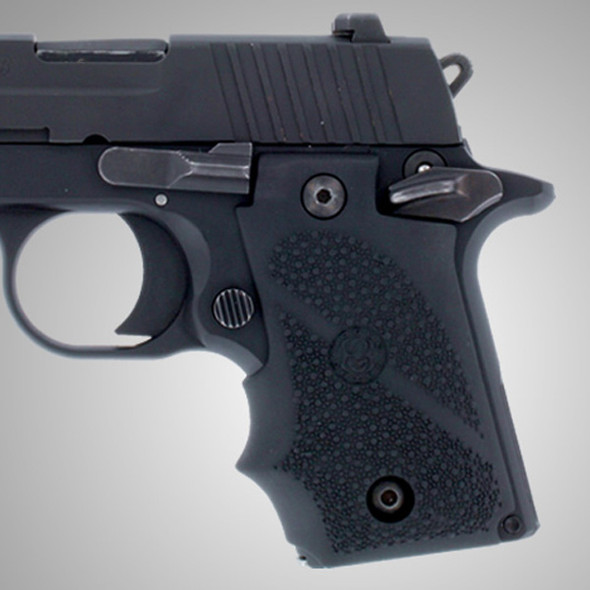 Hogue SIG Sauer P238 Rubber Grip with Finger Grooves Black