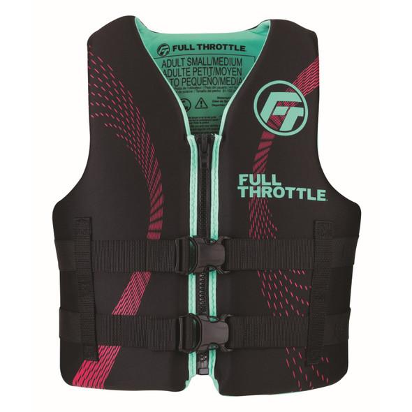 Full Throttle Adult Rapid-Dry Life Jacket S M Aqua