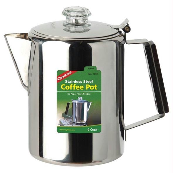 SS COFFEE POT 9 CUP