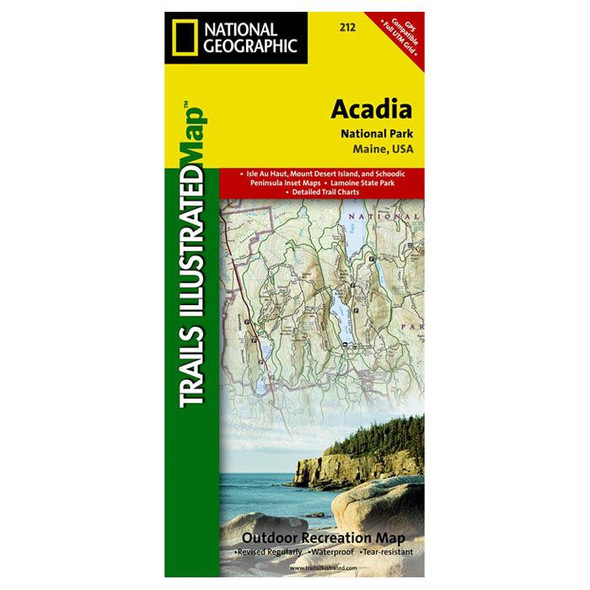 ACADIA NATIONAL PARK MAP #212