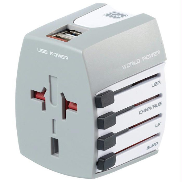 WORLD ADAPTOR USB NON GROUNDED