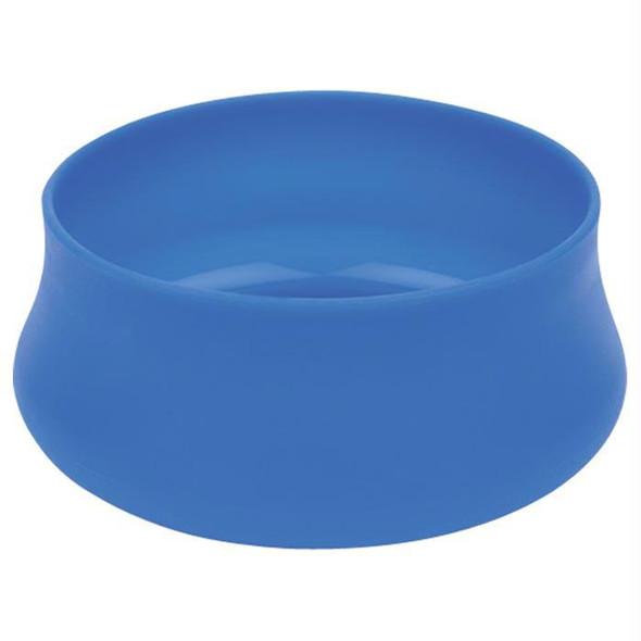 SQUISHY DOG BOWL LG 48OZ BLUE