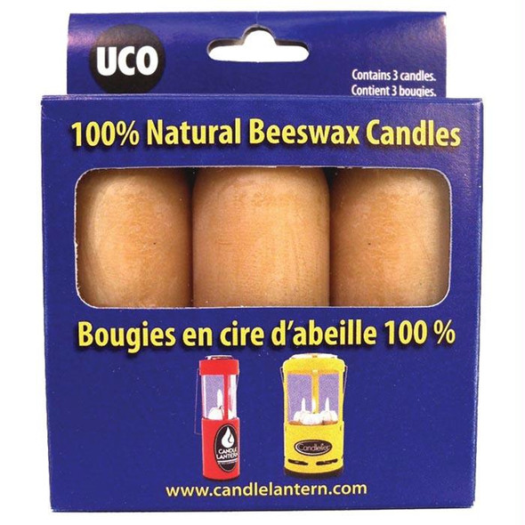 BEESWAX CANDLES 3 PK