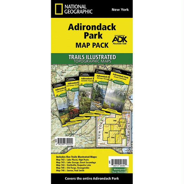 ADIRONDACK PARK MAP PACK BUNDL