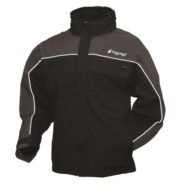 Frogg Toggs Pilot Illuminator Jacket Black/Charcoal Gray-LG