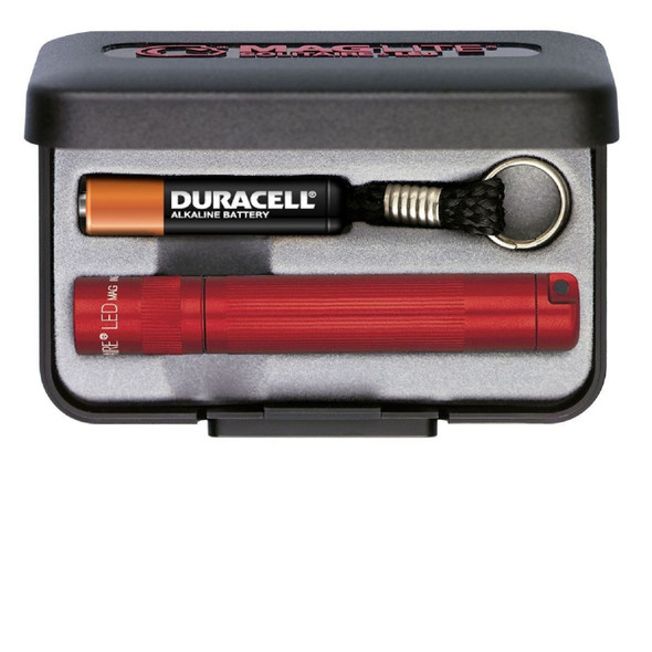MagLite Solitaire LED AAA Flashlight Presentation Box Red