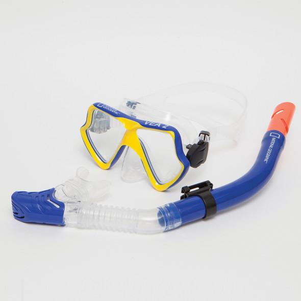 Nat Geo VEA2 Cmb Mask and VIVA 2 Snorkel Blue/YL Med