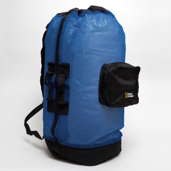Nat Geo Clamshell Mesh Backpack Dlx 5 Pocket -Bl/Bk