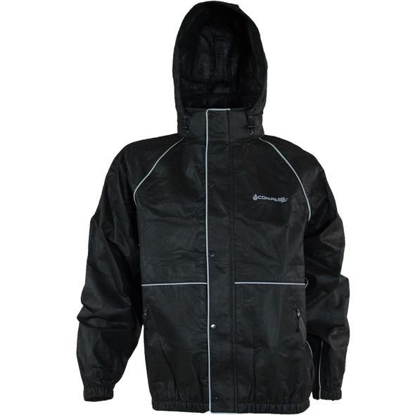 Compass 360 RoadTek Reflective Riding Jacket-Black-Size XX