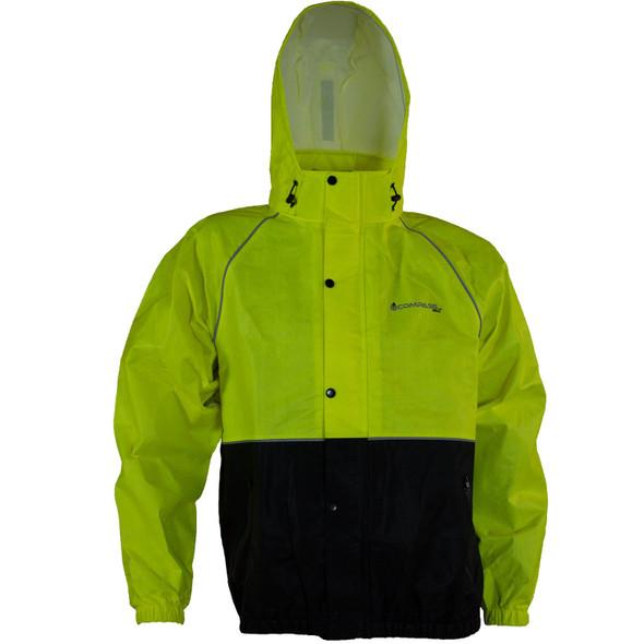 Compass 360 RoadTek Reflective Riding Jacket-Hi-Viz Lime-LG