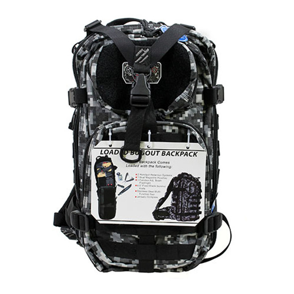 G.P.S. Tactical Bugout Loaded Backpack - Gray Digital