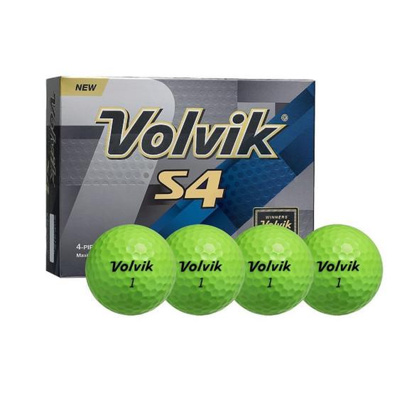 Volvik S4 Green Golf Balls (12 GOLF BALLS)