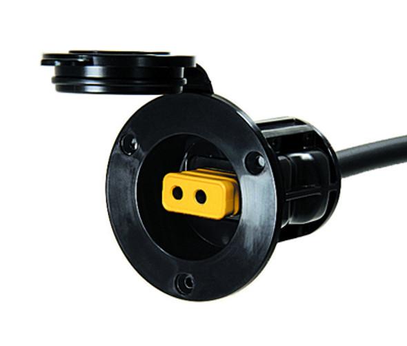 Cannon Flush Mount Power Port Black - 032532