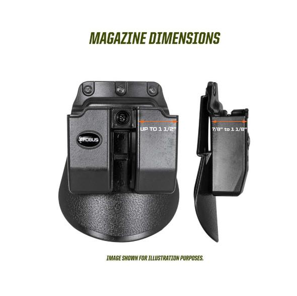 Fobus Double Magazine Pouch Fits .45