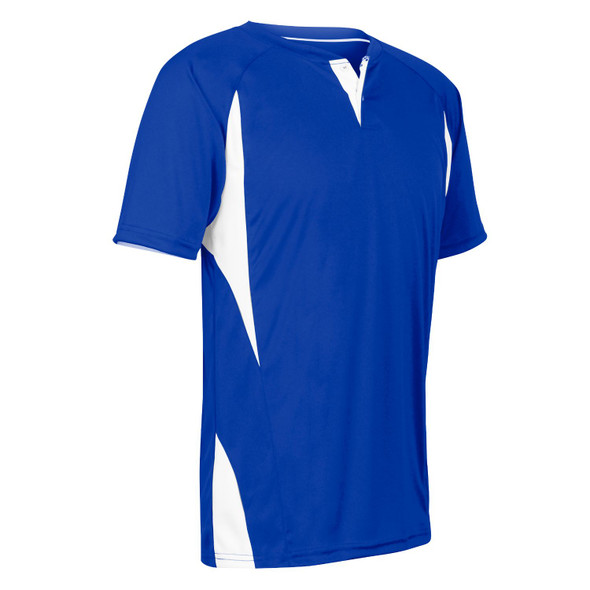Champro Adult 2 Button Wild Card Jersey Royal Blue White XL
