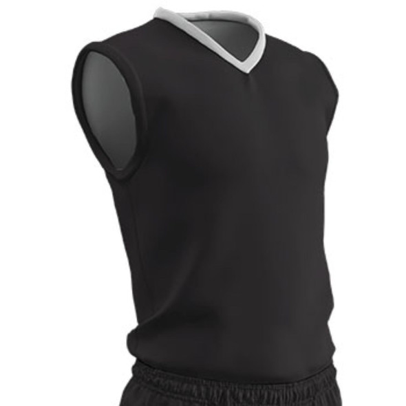 Champro Adult Clutch Basketball Jersey Black White 2XL
