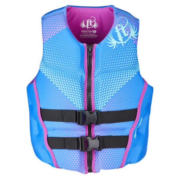 Full Throttle Womens Life Jacket Rapid-Dry Flex-Back-Blue-XS