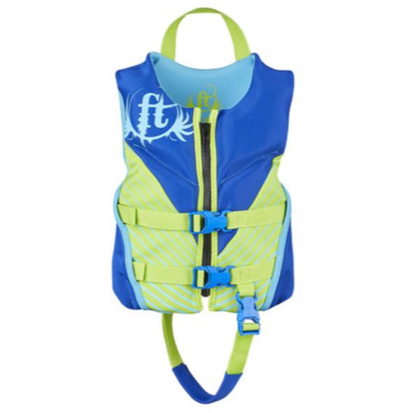 Full Throttle Child Life Jacket Rapid-Dry Flex-Back-Blue