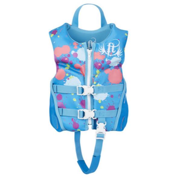 Full Throttle Child Life Jacket Rapid-Dry Flex-Back-Aqua