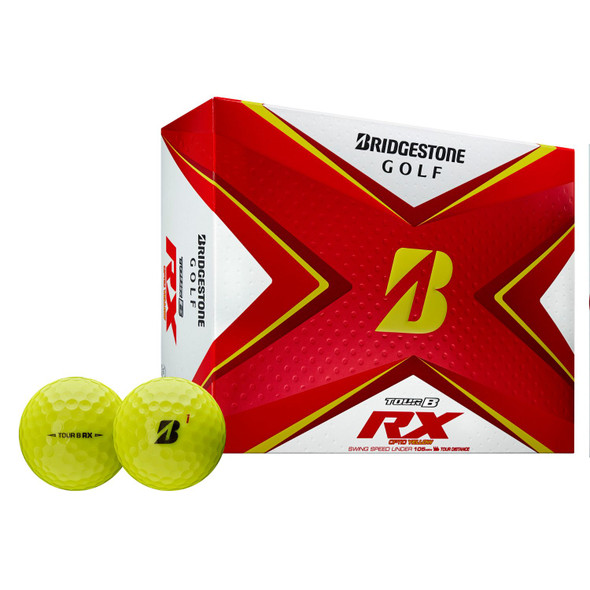 Bridgestone Tour B RX Golf Balls-Dozen Yellow - 1121931