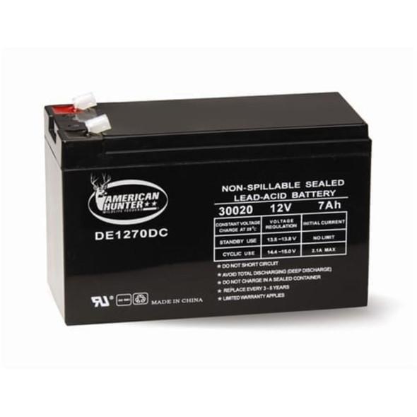 American Hunter DE1270DC 12v 7AH Rechargeable Battery