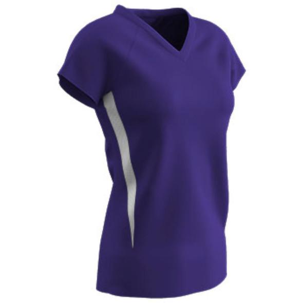 Champro SPIKE Ladies Volleyball Jersey Purple White Medium