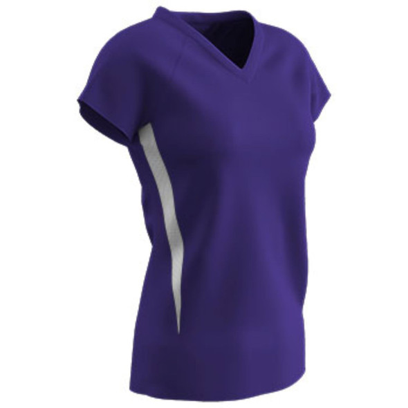 Champro SPIKE Ladies Volleyball Jersey Purple White Xsmall