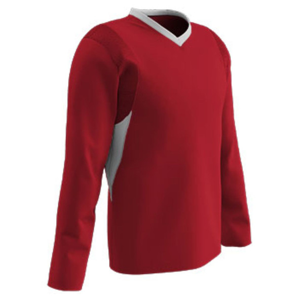 Champro Youth KEY Shooter Basketball Shirt Scarlet White XL