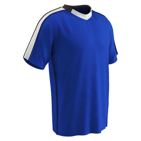 Champro Adult Mark Soccer Jersey Royal White Black Large