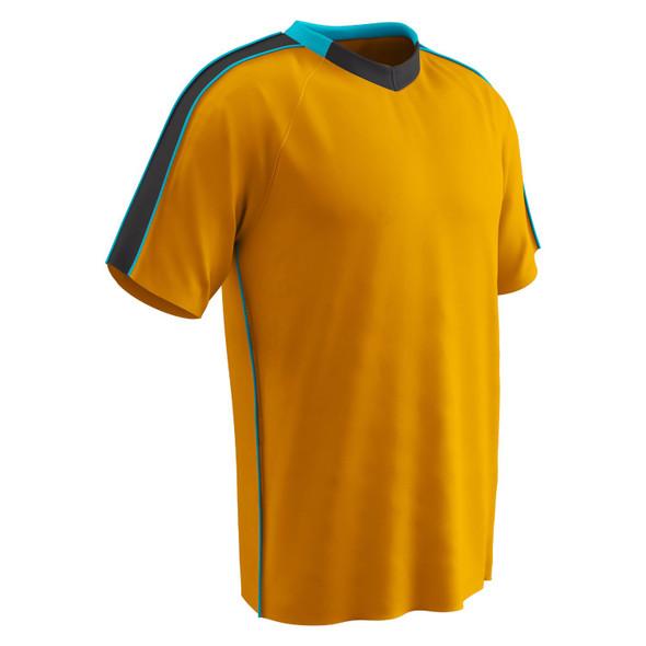 Champro Adult Mark Soccer Jersey Neo Orange Neo Blue Blk LG